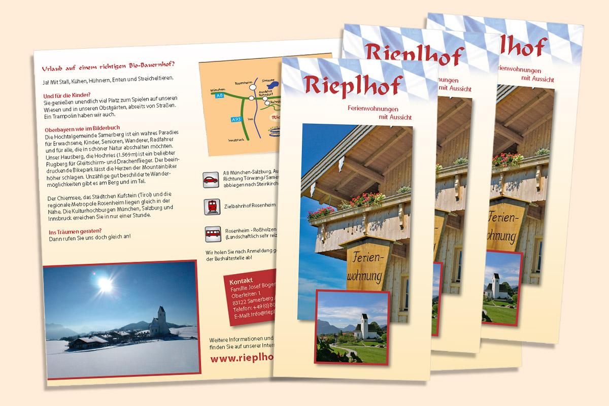 Hausprospekt des Urlaubsbauernhofs Rieplhof Samerberg